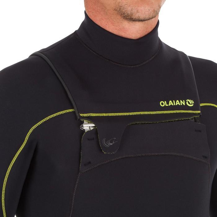 Heren surfpak 900 neopreen 4/3 mm rits op de borst zwart