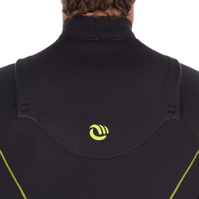 900 Men's 4/3 mm Neoprene Front Zip Surfing Wetsuit - Black