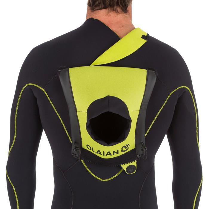 Heren wetsuit 900 neopreen 4/3 mm rits op de borst zwart