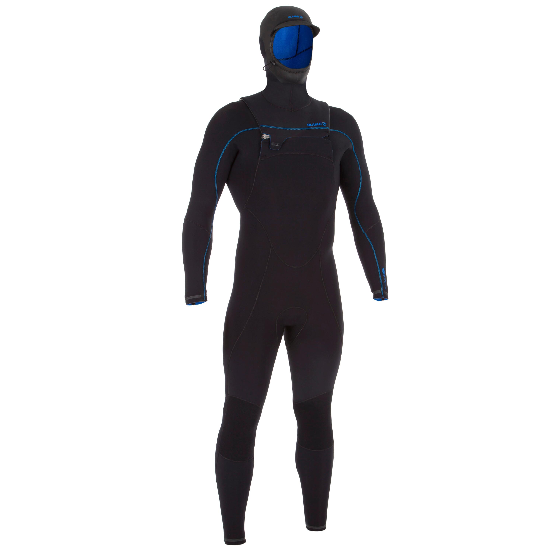 Neoprenanzug Surfen Switch 900 5/4 mm Herren schwarz | Sportbekleidung > Sportanzüge | Schwarz - Blau | Ab | Olaian