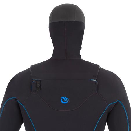 Men's Surfing 5/4 mm Neoprene Wetsuit Switch 900 - Black