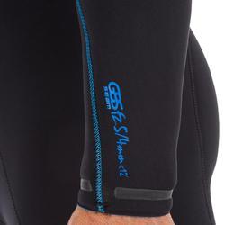Heren wetsuit Switch 900 neopreen 5/4 mm zwart (hooded)