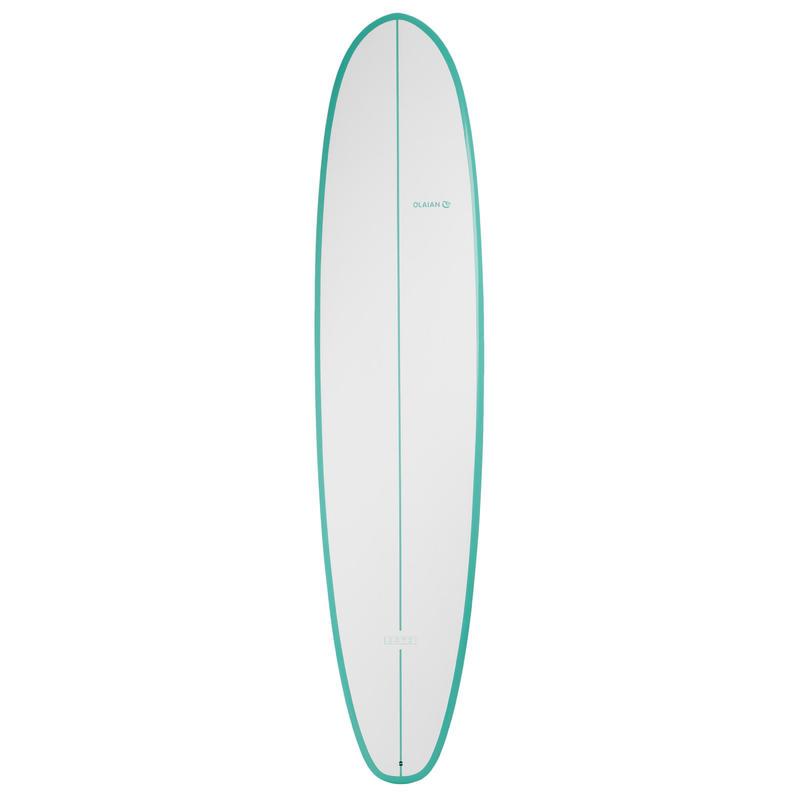 Planche de surf 500 8'2 mini malibu. Sandwich epoxy. 3 ailerons FCS.