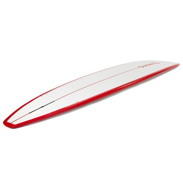 Planche de surf Longboard 500 9'  avec ailerons FCS. - 1306590