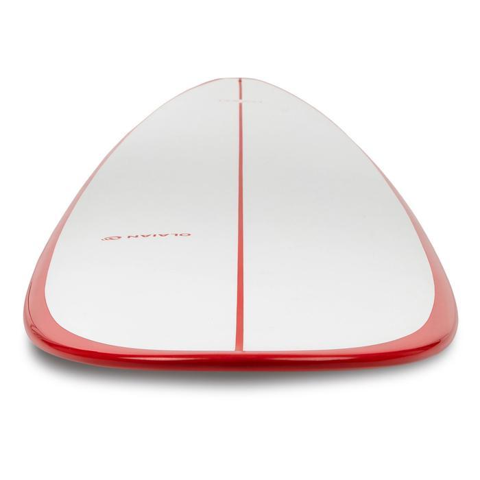 Planche de surf Longboard 500 9'  avec ailerons FCS. - 1306593