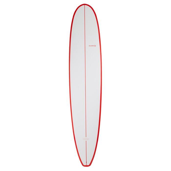 Planche de surf Longboard 500 9'  avec ailerons FCS. - 1306599