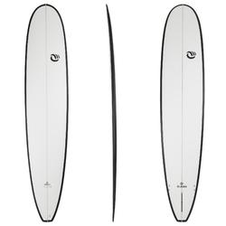 Planche de surf  longboard 900 9'4 stratifiée résine epoxy hand made.