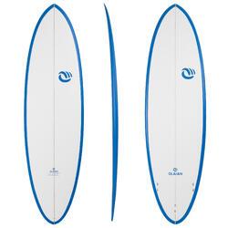 """Planche de surf 900 egg 6' 6"""" stratifiée epoxy hand made . 3 ailerons FCS."""