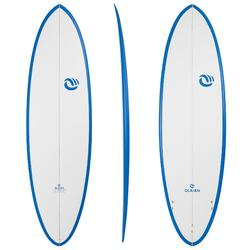 "Surfboard 900 egg 6' 6"" handmade epoxylaminaat. 3 FCS-vinnen."