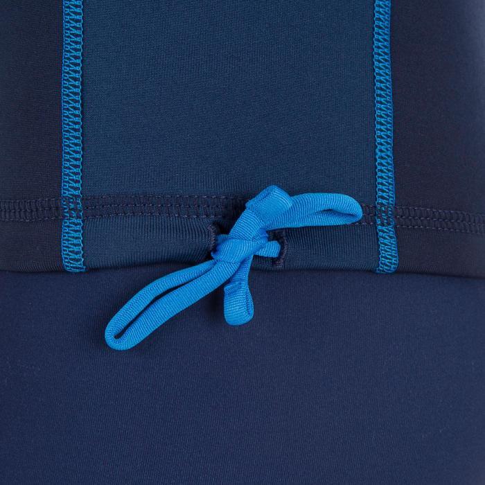 tee shirt anti UV surf top thermique polaire manches longues enfant bleu