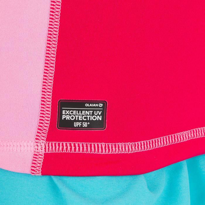 Camiseta anti-UV surf top Térmico polar Manga corta Niños Rosa