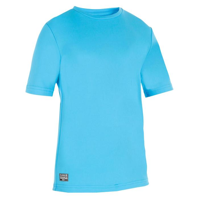 water tee shirt anti UV surf manches courtes enfant - 1306640