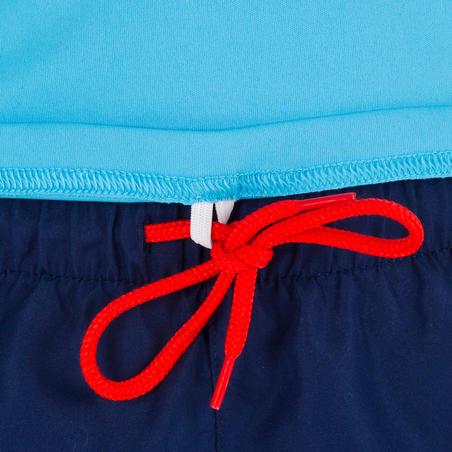 tee-shirt pour sports nautiques anti-UV surf manches courtes enfant bleu