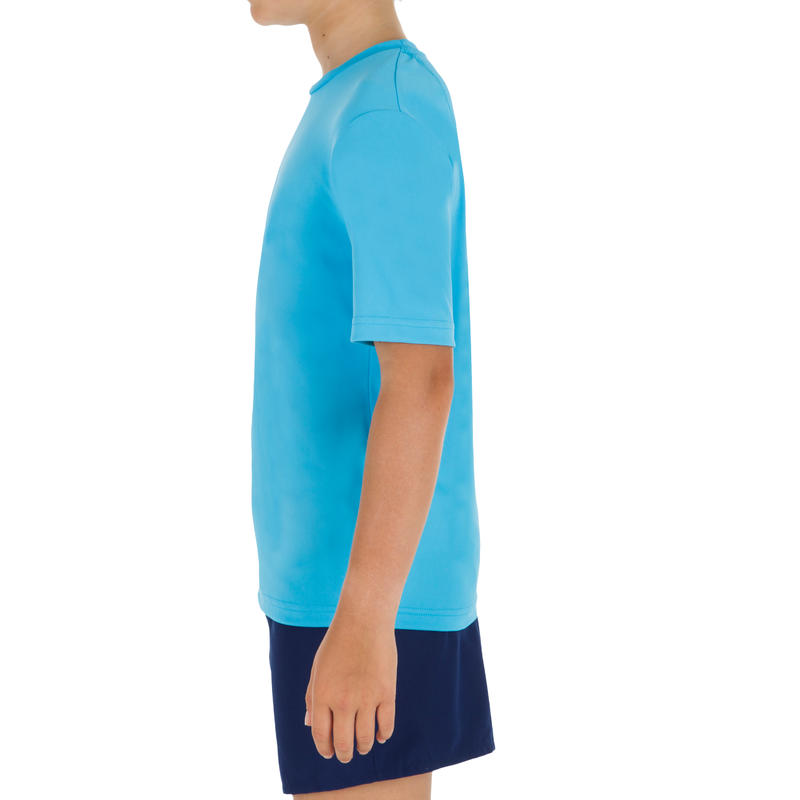 Children's Half Sleeve UV Protection Surfing Top T-Shirt - Blue