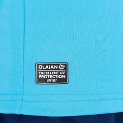 UV-Shirt kurzarm Surfen Kinder hellblau