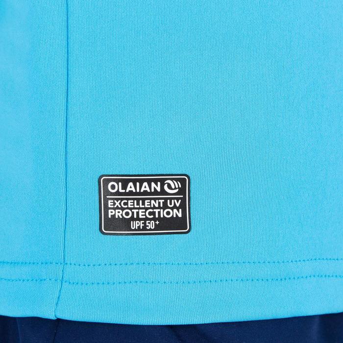 Uv-werend zwemshirt met korte mouwen voor kinderen blauw