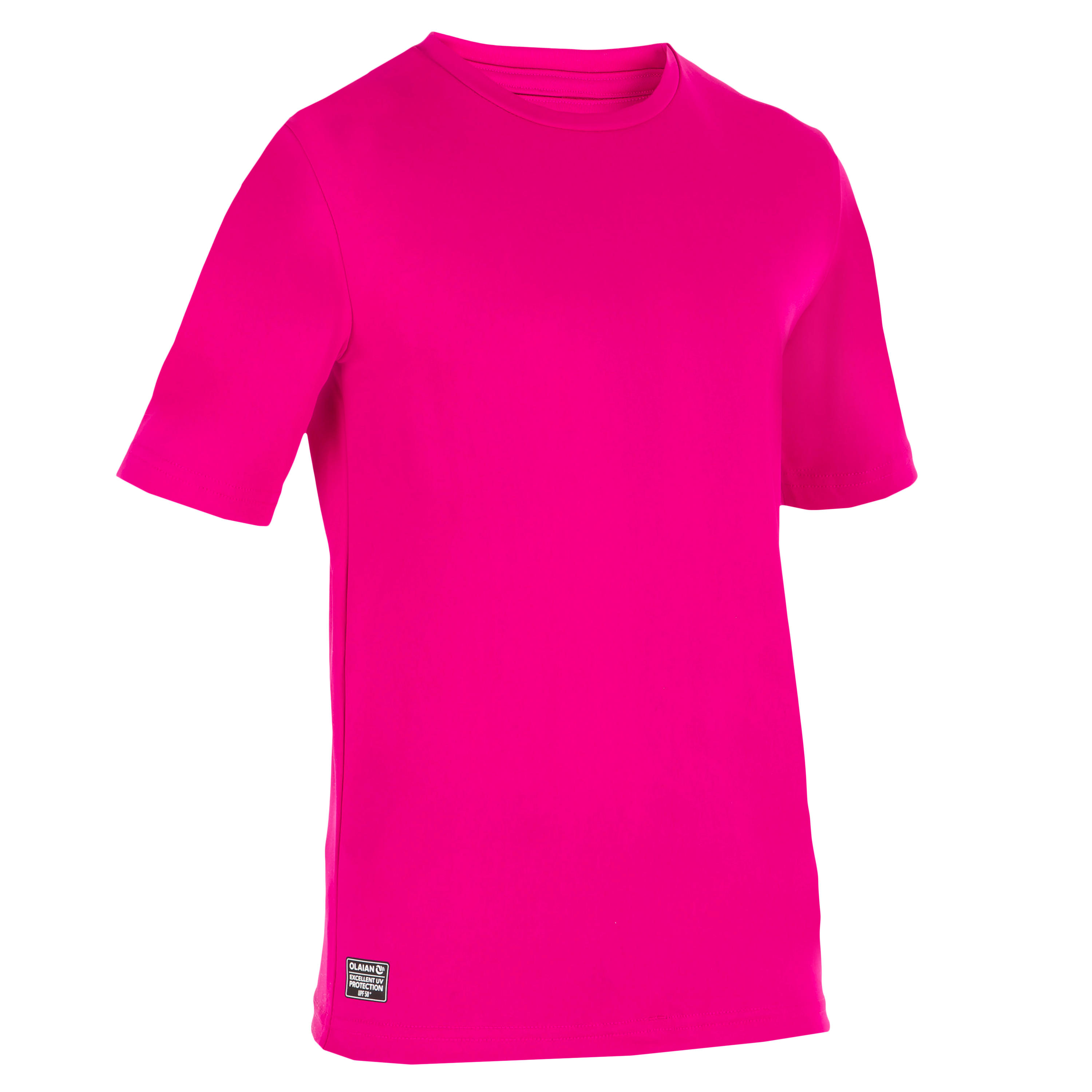 Children's Short Sleeve UV Protection Surfing Water T-Shirt - Pink