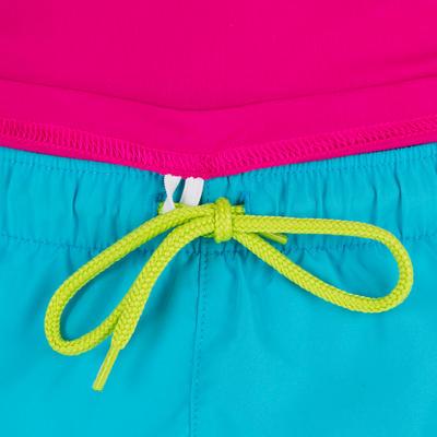 חולצת גלישה ומים בעלת שרוולים קצרים עם הגנה מקרינת UV לילדים - ורוד