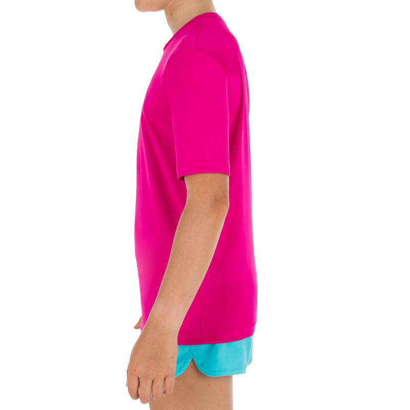 Children's Half Sleeve UV Protection Surfing Top T-Shirt - Pink