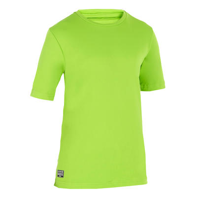 Children's Short Sleeve UV Protection Surfing Water T-Shirt - Green