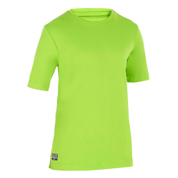 UV-Shirt kurzarm Surfen Kinder grün