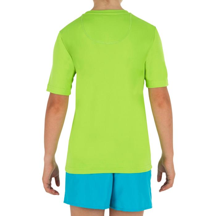 Uv-werend zwemshirt met korte mouwen kinderen groen