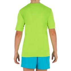 Uv-werend zwemshirt met korte mouwen kinderen surfen groen