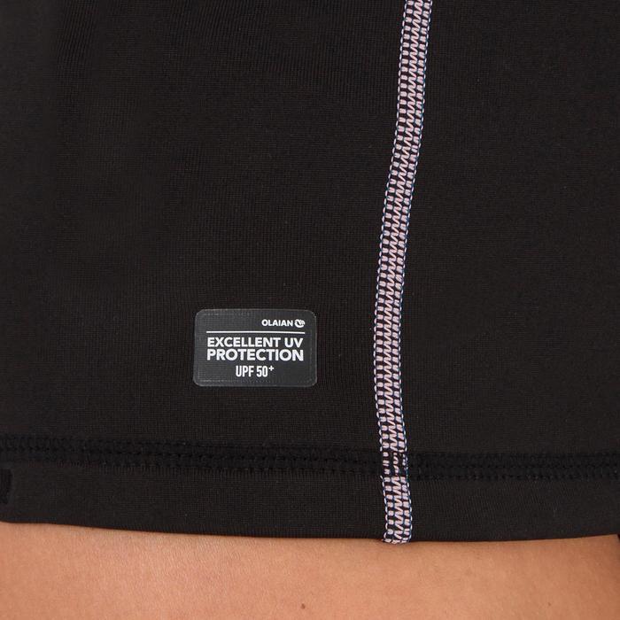 Thermische en uv-werende rashguard 900 met lange mouwen voor dames zwart