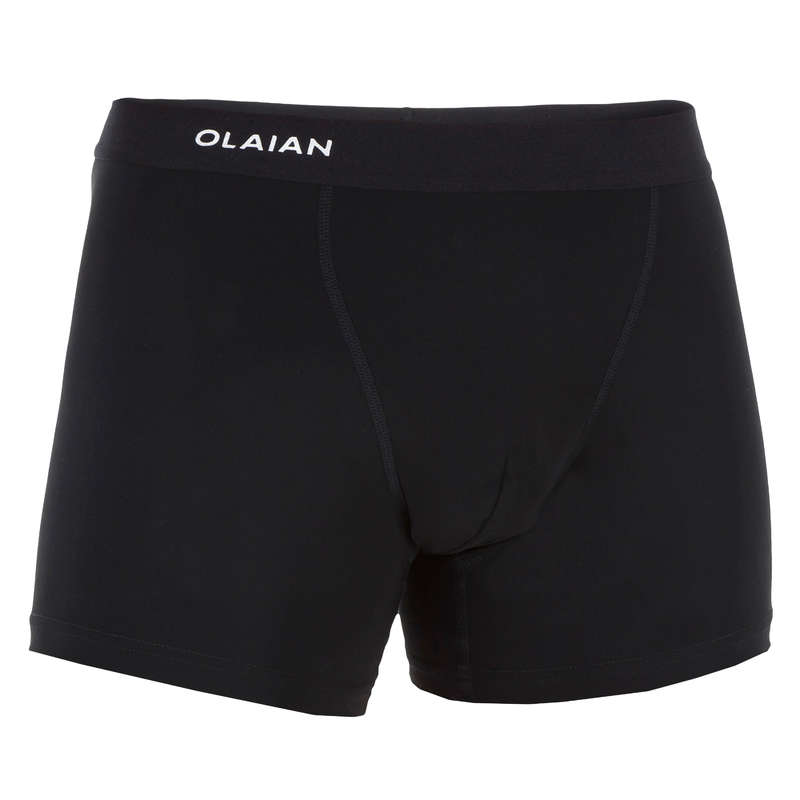 MEN'S INTERMEDIATE BOARDSHORTS Surf - KOLA MENS UNDERSHORTS BLACK OLAIAN - Surf Clothing