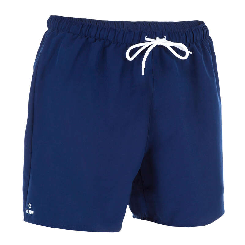 MEN'S BEGINNER BOARDSHORTS Swimwear and Beachwear - Hendaia S Boardshorts NT Blue OLAIAN - Swimwear and Beachwear