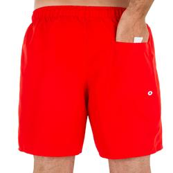 Heren zwembroek / korte boardshort Hendaia NT rood