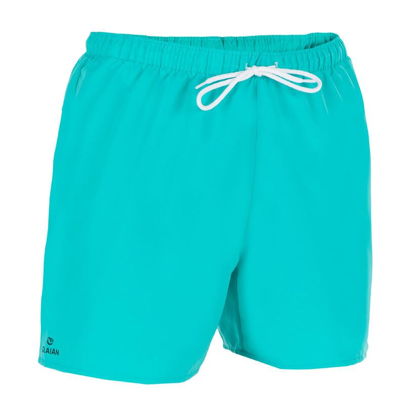 "Traje de baño corto Hombre Surf Olaian Hendaia NT Azul Turquesa 16"""
