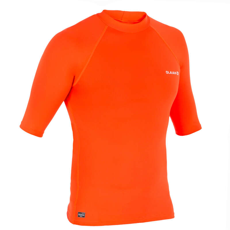 PROTECTION SOLAIRE HOMME Vattensport och Strandsport - Rashguard 100 UV-skydd Herr OLAIAN - Bodyboard