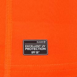tee shirt anti uv surf top 100 manches courtes homme orange fluo