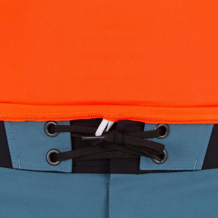 Uv-werende rashguard 100 met korte mouwen voor heren, voor surfen, fluo-oranje