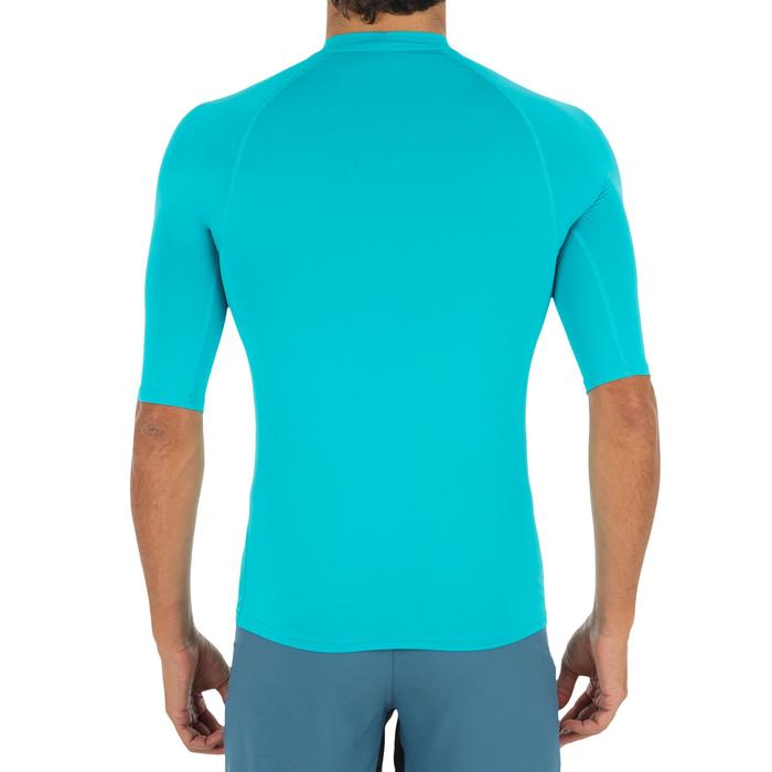 Camiseta anti-UV surf Top 100 Manga corta Hombre Azul claro