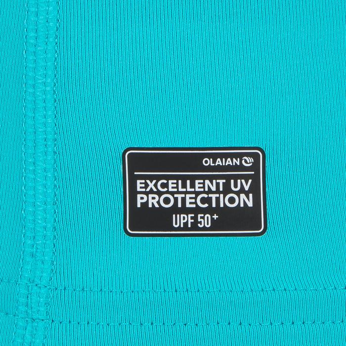 tee shirt anti uv surf top 100 manches courtes homme bleu clair