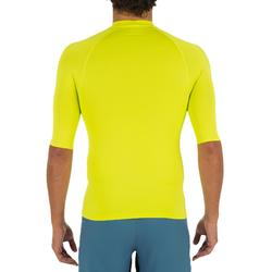tee shirt anti uv surf top 100 manches courtes homme jaune anis