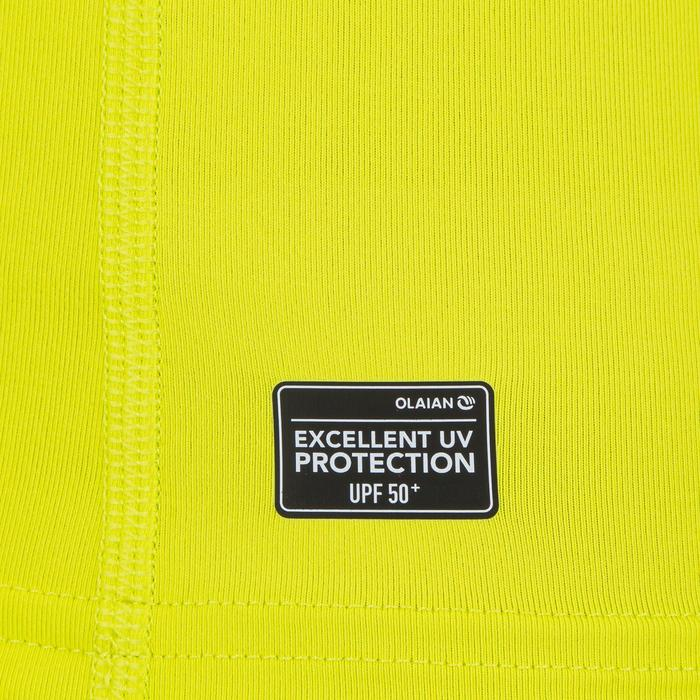 Top Camiseta Proteción Solar Playa Surf Olaian Uv100 Hombre Amarillo ANTI-UV
