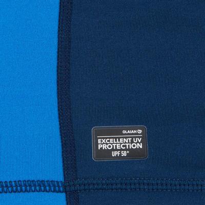 tee shirt anti UV surf top 900 Thermique polaire Manches Courtes Homme Bleu