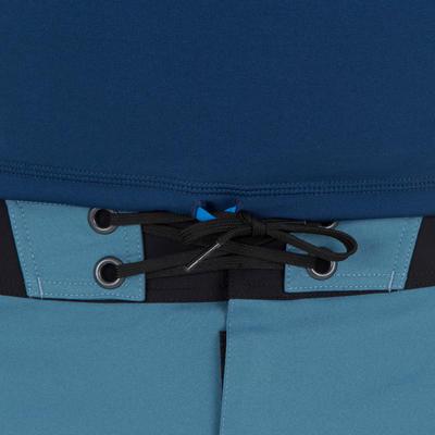 تيشرت رجالي قصير لركوب الأمواج للوقاية من الأشعة فوق البنفسجية -أزرق