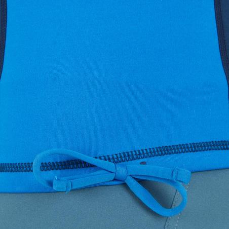 T-Shirt anti-UV surf haut 900 Thermique polaire Manches Courtes Homme Bleu