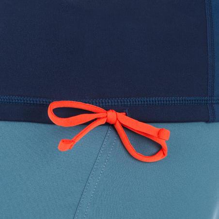 T-Shirt anti-UV surf haut 900 thermique polaire Manches longues Homme Bleu