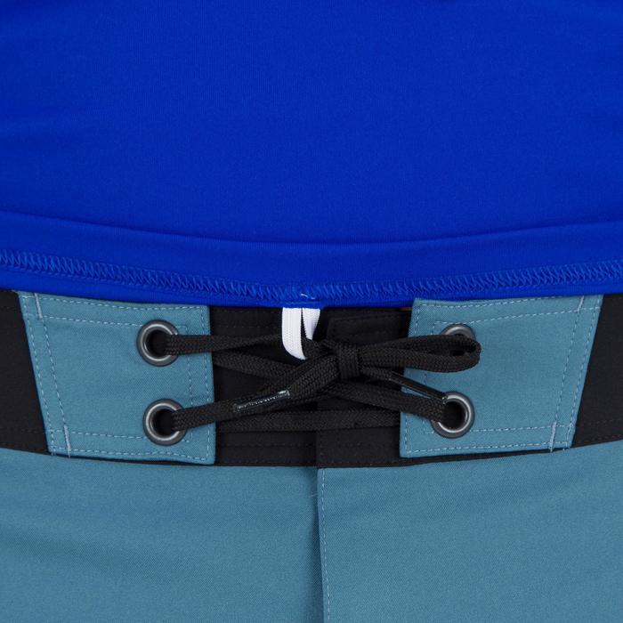 Uv-werend zwemshirt met korte mouwen voor heren, voor surfen, blauw