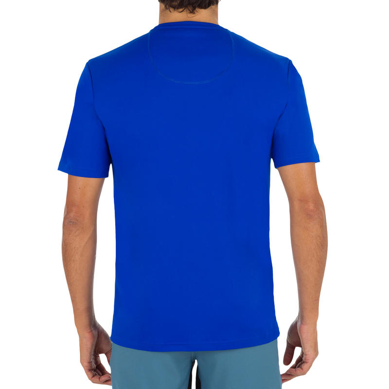 Men's Short Sleeve UV Protection Surfing Water T-Shirt - Blue