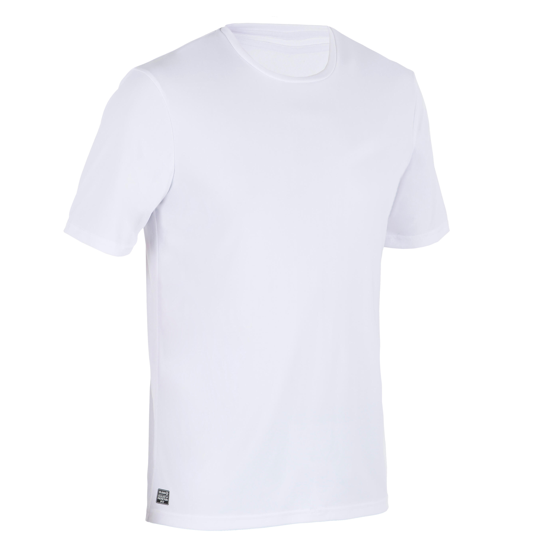 01b43a2408b593 UV-Shirt Surfen kurzarm Herren weiß