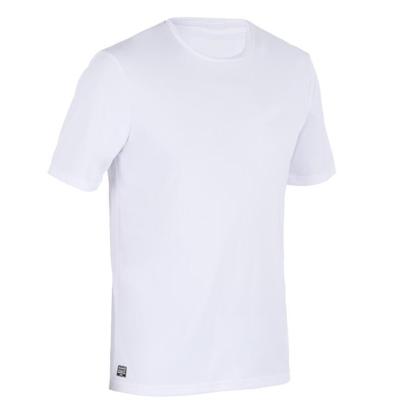 Camiseta Protección Solar Surf Hombre Olaian Blanco Manga Corta Anti-UV