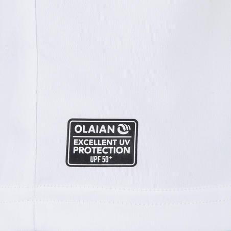 Чоловіча футболка для водних видів спорту, з УФ-захистом - Біла
