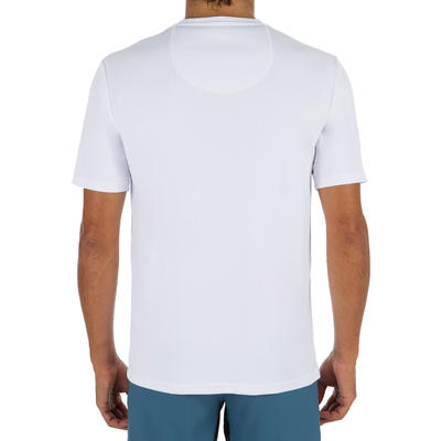 Men's Short Sleeve UV Protection Surfing Water T-Shirt - White