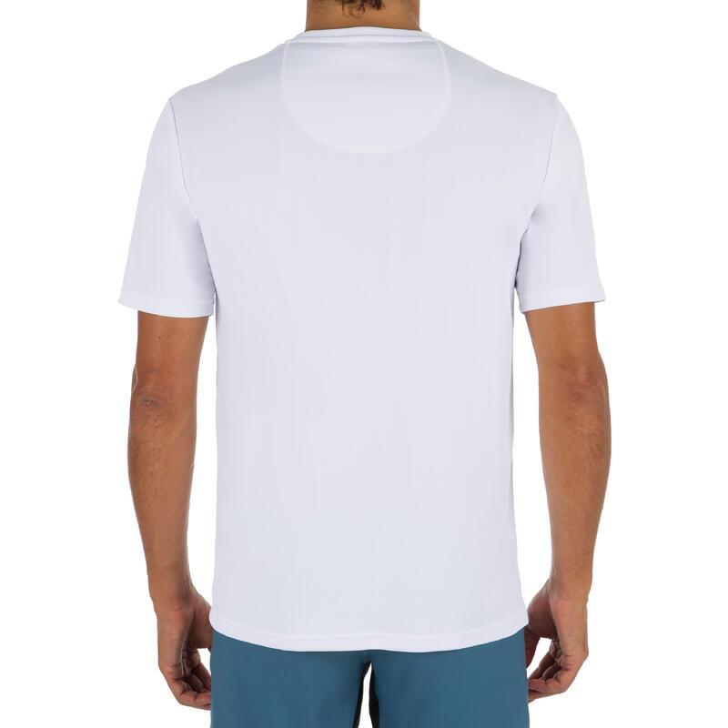 AGUA camiseta anti-UV surf Manga corta Hombre Blanca